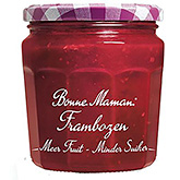 Bonne maman Raspberries more fruit less sugar 335g