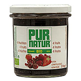 Confiture Pur Natur 4 Fruits Extra Bio 370g