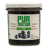 Pur natur Blueberry extra jam organic 370g