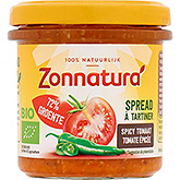 Zonnatura Spread spicy tomaat bio 135g