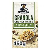 Quaker Quaker Granola chunky bagte nødder og frø 450g 450g
