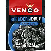 Venco Boerderijdrop hård salt lakrits 235g