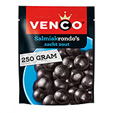 Venco Salmiakrondo's salty soft liquorice with liquorice powder 250g