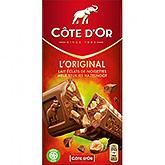 Côte d'or l'Original milk pieces of hazelnut 200g