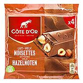 Côte d'or milk whole hazelnuts 3x45g