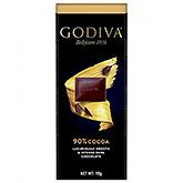 Godiva 90% cocoa Luxuriously smooth and intense dark chocolate 90g