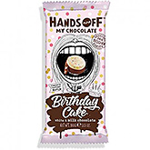 Hands off Birthday cake white and milk chocolate 100g
