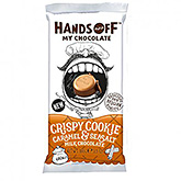 Hands off Crispy cookie caramel and seasalt milk chocolate 100g