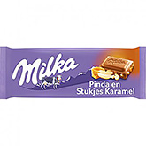 Milka Peanut and pieces of caramel 90g