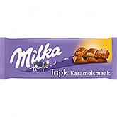 Milka Triple karamelsmaak 90g