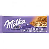Milka Waves avec des perles de caramel croquantes 81g