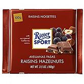Ritter sport Rosiner hasselnødder 100g