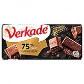 Verkade 75% cocoa extra pure 111g