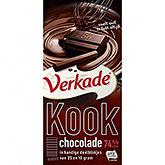 Verkade Cooking chocolate 74% 200g