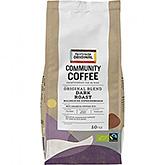 Café Fairtrade original Community Torréfaction foncée Grains d'espresso bio 500g