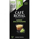 Café royal Lungo decaffeinato 10 capsules 53g