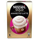 Nescafé Gold amaretto latte 8 sachets 140g