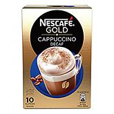 Nescafé Gold cappuccino decaf 10 cups 125g