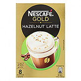 Nescafé Gold hazelnut latte 8 cups 136g