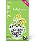 Clipper Jasmin und Zitrone Bio-Grüntee 20 Beutel 40g