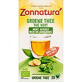 Zonnatura Groene thee munt gember 20 zakjes 36g