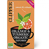 Clipper Orange og gurkemeje organisk fusion 20 poser 35g