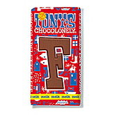 Tony's Chocolonely Lettre en chocolat F au lait 180g