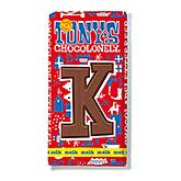 Tony's Chocolonely Lettre en chocolat K au lait 180g