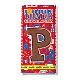 Tony's Chocolonely Lettre en chocolat P au lait 180g