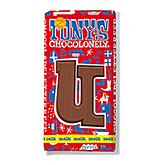 Tony's Chocolonely Lettre en chocolat U au lait 180g