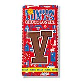 Tony's Chocolonely Lettre en chocolat V au lait 180g
