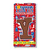 Tony's Chocolonely Lettre en chocolat Y au lait 180g