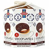 Daelmans Stroopwafels chocolade hexa 224g