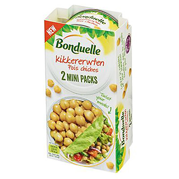 Bonduelle Kikkererwten mini packs 2x60g