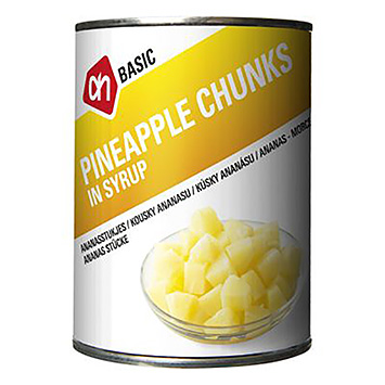 AH BASIC Pineapple chunks in syrup 567g