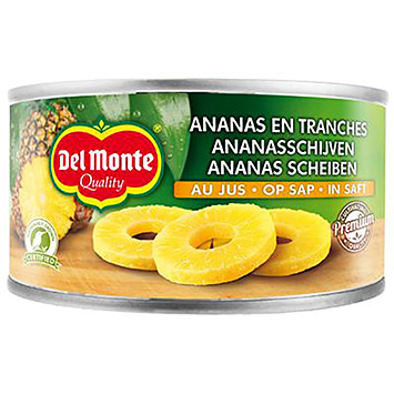 Del monte Pineapple slices on juice 220g