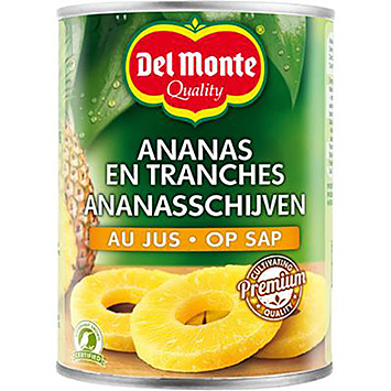 Del monte Pineapple slices on juice 565g