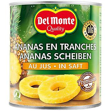 Del monte Pineapple slices on juice 820g
