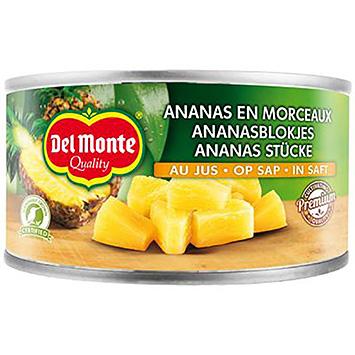 Del monte Gold cubes d'ananas sur jus 230g