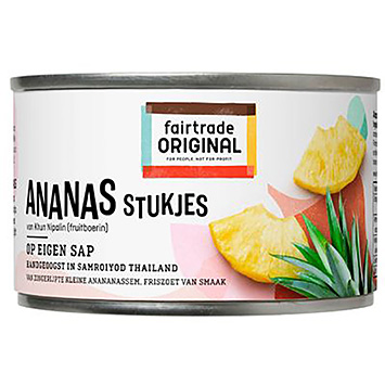 Fairtrade originale ananasstykker på egen juice 227g