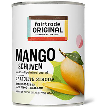 Fairtrade original Mango slices in light syrup 425g