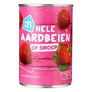 AH Hele aardbeien op siroop 400g