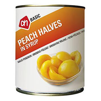 AH BASIC Peach halves in syrup 820g