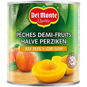 Del monte Half peaches on juice 825g
