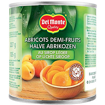 Del monte Half apricots in light syrup 227g