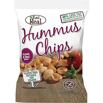 Eat real Hummus chips tomato and basil 135g