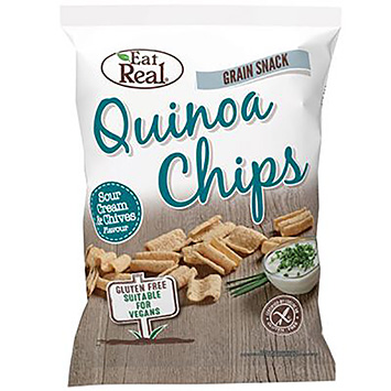 Eat real Quinoa chips sour cream and chives 80g