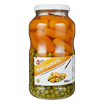 AH BASIC Peas-carrots 680g