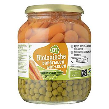 AH Organiske ærter gulerødder 680g