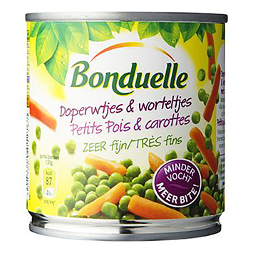 Bonduelle Green peas and carrots very fine 150g